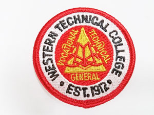 Red Western Program Patch