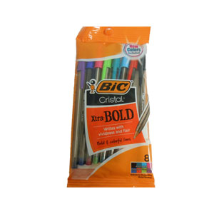 Bic Cristal Xtra Bold Colored Pens 8-Pack