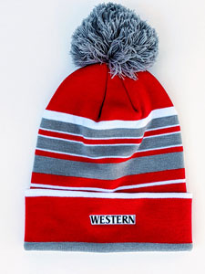 LogoFit Bradshaw Striped Hat with Pom